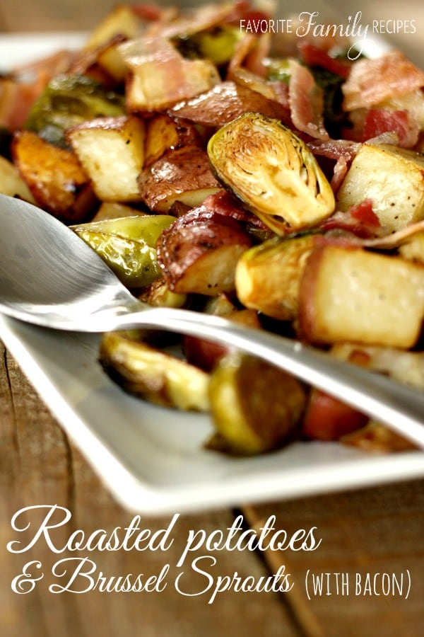 Roasted Potatoes with Brussel Sprouts - Weekly Menu Plan #33