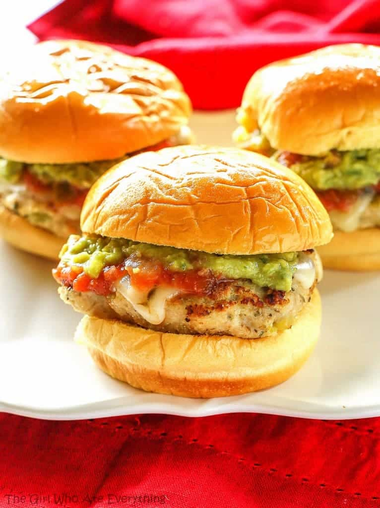 Green Chile Chicken Sliders - the-girl-who-ate-everything.com