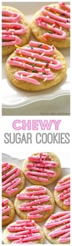 Chewy Sugar Cookies - good without frosting but I couldn't help myself. This recipe is perfection! the-girl-who-ate-everything.com