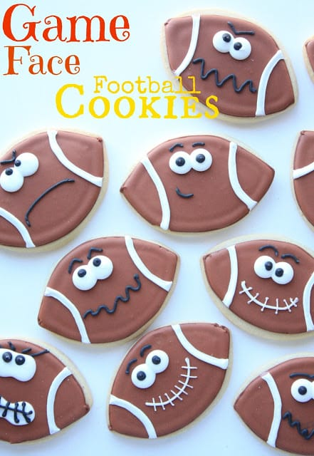 game face cookie footballs