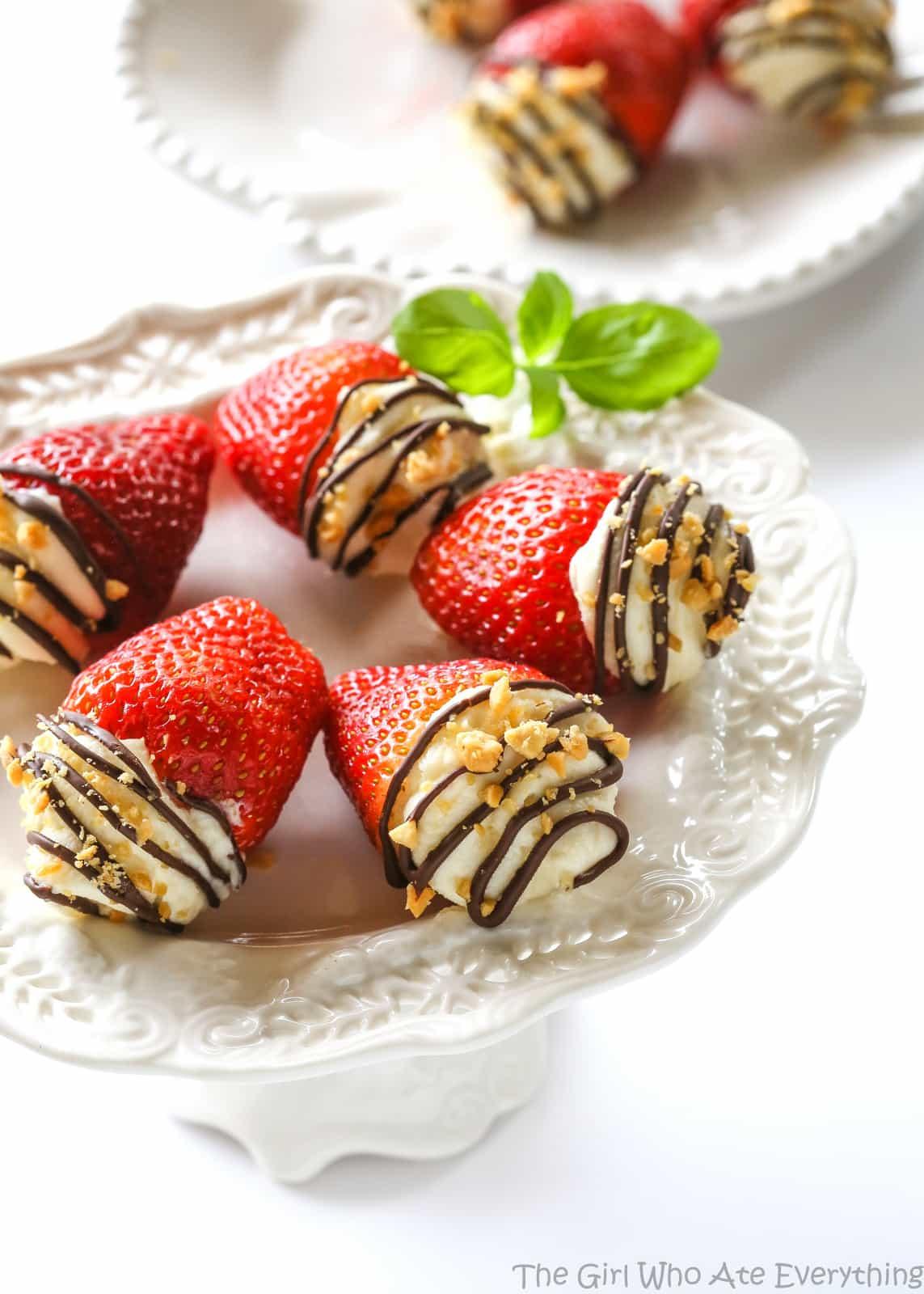 Mascarpone Stuffed Strawberries.