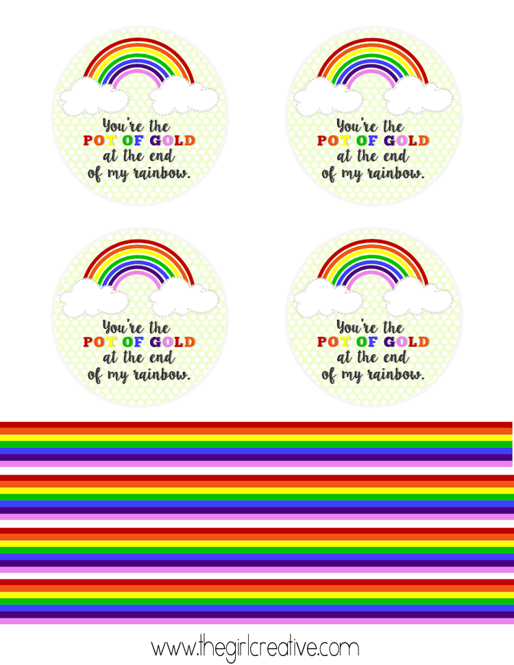 Pot of Gold Rainbow Printables