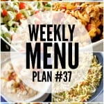 Weekly Menu Plan 37