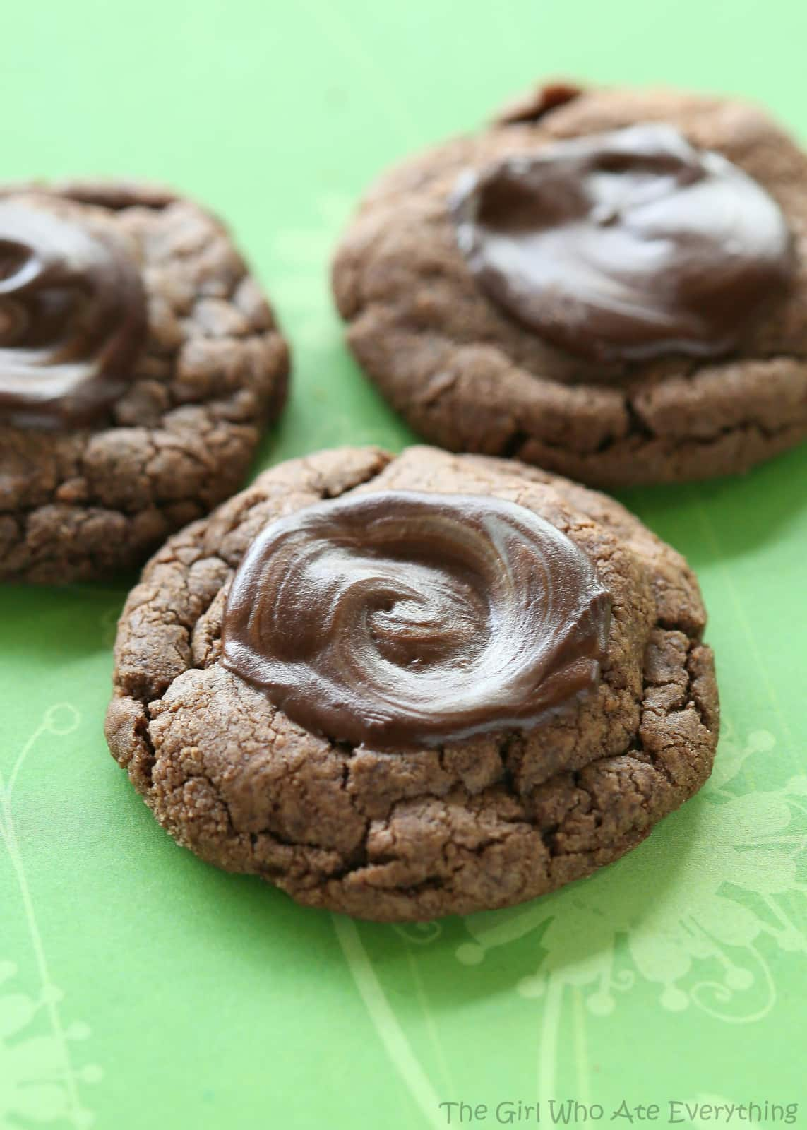 Chocolate Mint Cookies - tastes like a thin mint girl scout cookie ...