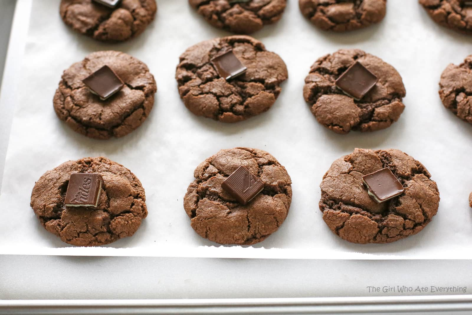 Chocolate Mint Cookies - The Girl Who Ate Everything