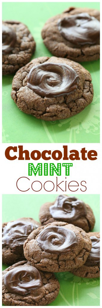 Chocolate Mint Cookies - tastes like a thin mint girl scout cookie. This one's a keeper. #chocolate #mint #cookies #dessert #christmas