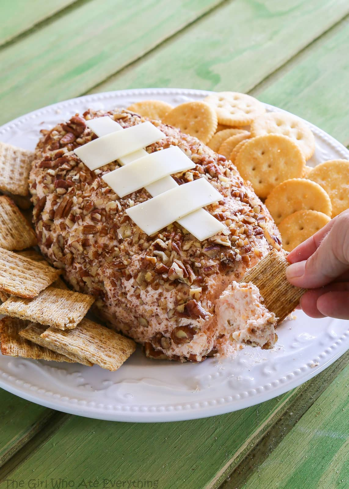 Ham and Cheese Football - only 6 ingredients. Great for the big football game. the-girl-who-ate-everything.com