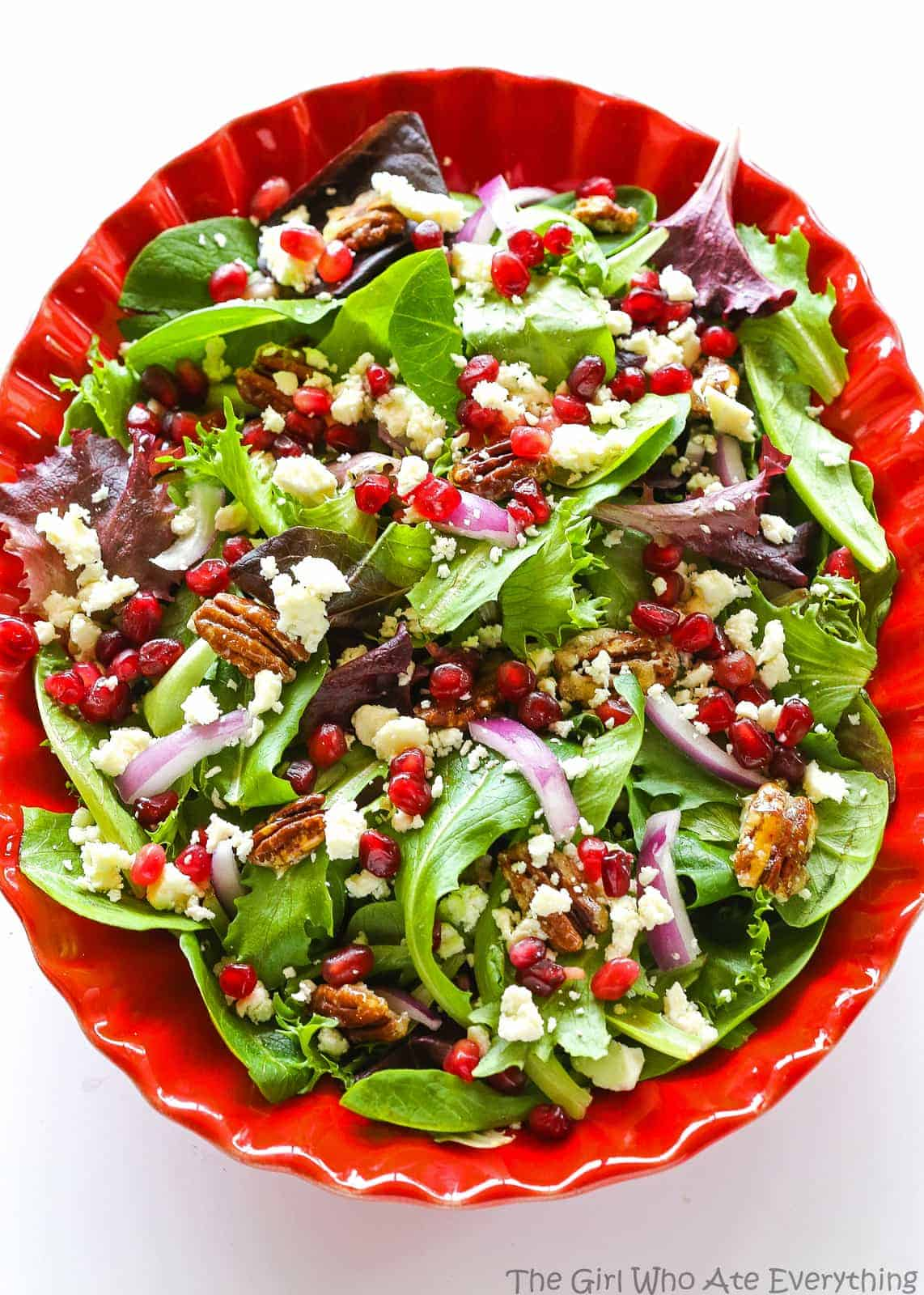 Pomegranate Feta Salad The Girl Who Ate Everything