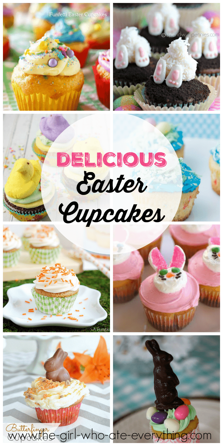 Delicious Easter Cupcakes that will inspire you to get creative for Easter dessert.