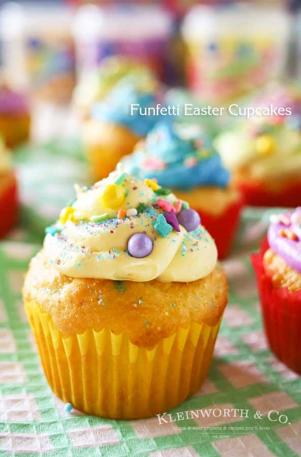 Funfetti Easter Cupcakes