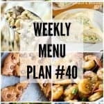 Weekly Menu Plan #40