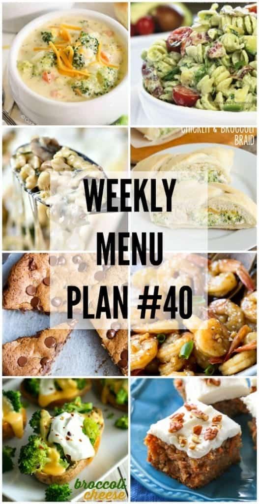 Weekly Menu Plan #40