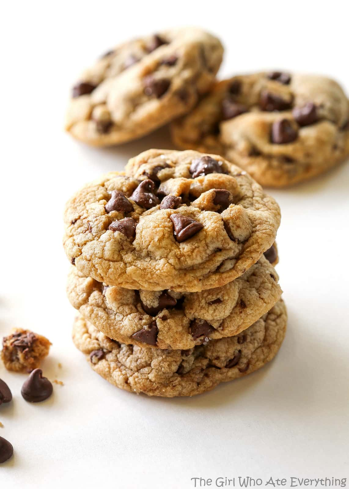 Salty Browned Butter Chocolate Chip Cookies - The Girl Who ...
