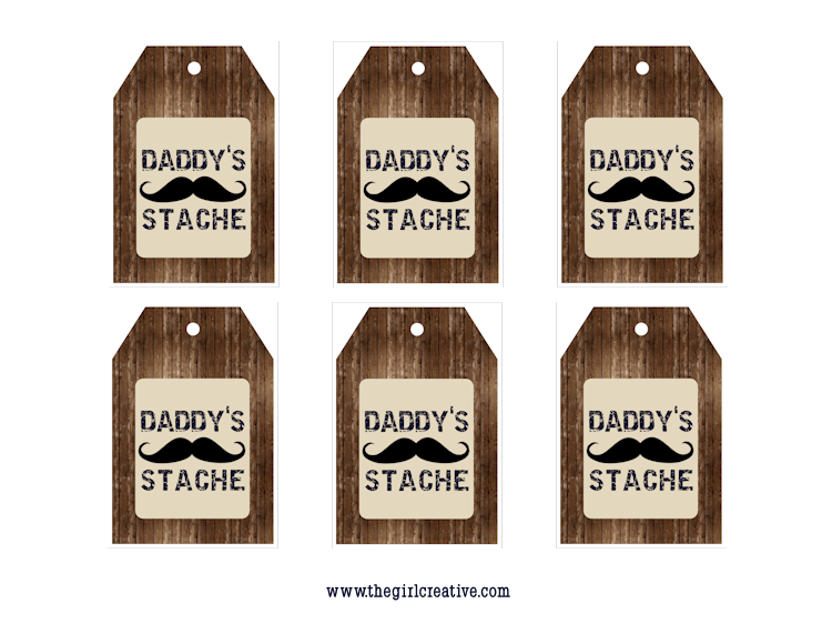 Daddy's Stache Gift Tags