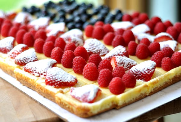 Festive Fruited Cheesecake Flag - Mel's Kitchen Cafe