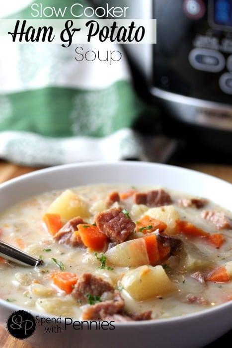 Slow Cooker Ham and Potato Soup