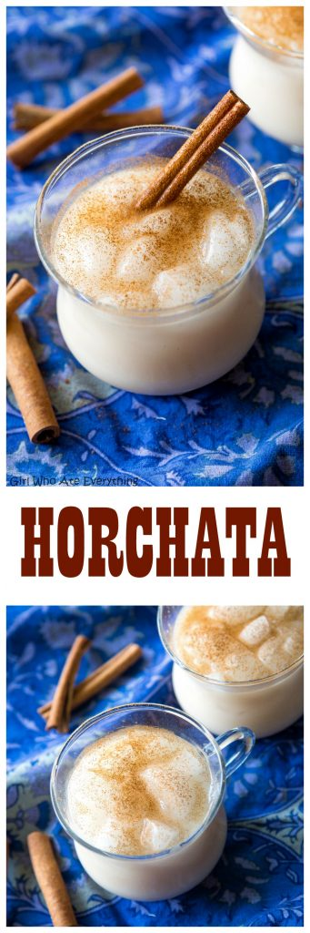 Horchata - a refreshing rice milk drink with a hint of cinnamon served over ice. #mexican #horchata #recipe #drink #nonalcoholic #beverage