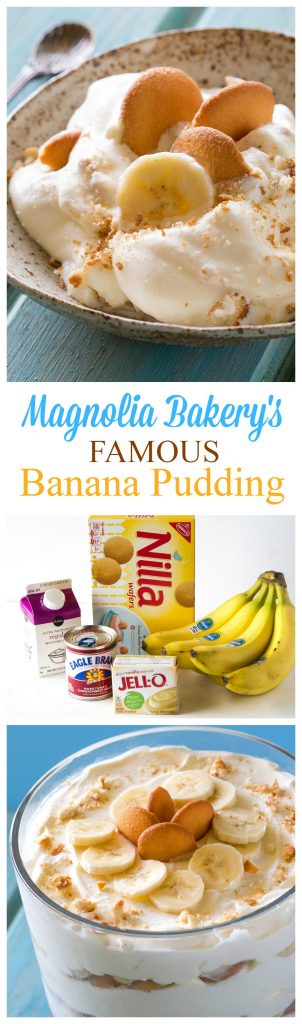 This Magnolia Bakery Banana Pudding Recipe has layers of creamy pudding, bananas, and Nilla wafers. It's heaven and way easier than you think! This is the ACTUAL banana pudding recipe from their cookbook. #magnolia #bakery #banana #pudding #recipe #dessert