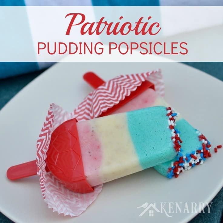 patriotic-pudding popsicles - Kennary
