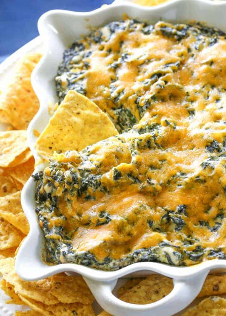"This Spinach Ranch Dip is a twist on the classic spinach dip. Everyone will want to know what your ""secret"" ingredient is. the-girl-who-ate-everything.com"