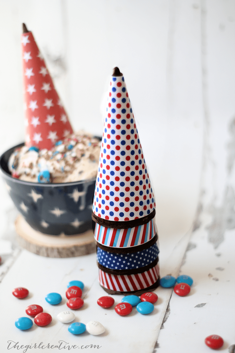 Patriotic Ice Cream Cone Wrappers