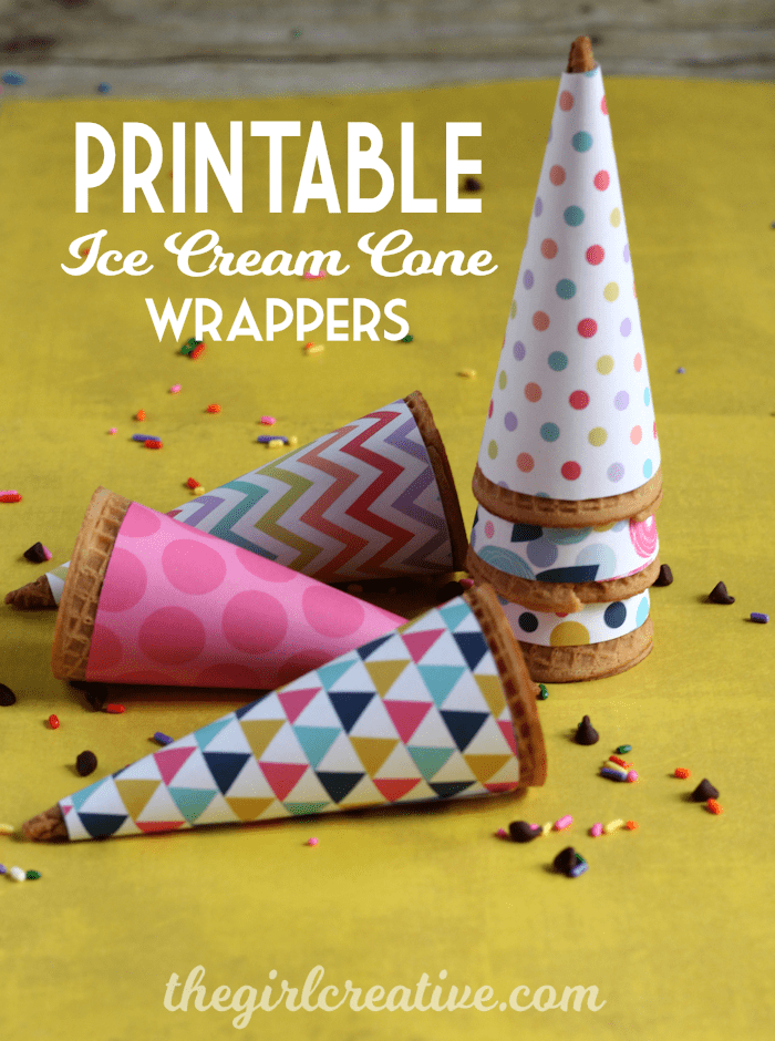 Printable-Ice-Cream-Cone-Wrappers-for girls