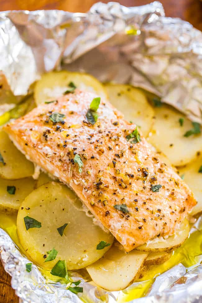 easy salmon and potatoes-averie cooks
