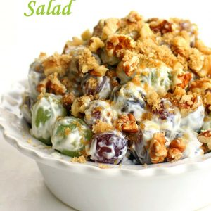 Grape Walnut Salad - a unique fruit salad that is always a crowd pleaser! the-girl-who-ate-everything.com
