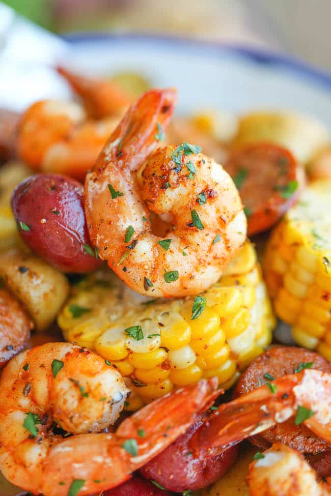 shrimp boil foil packets-damn delicious