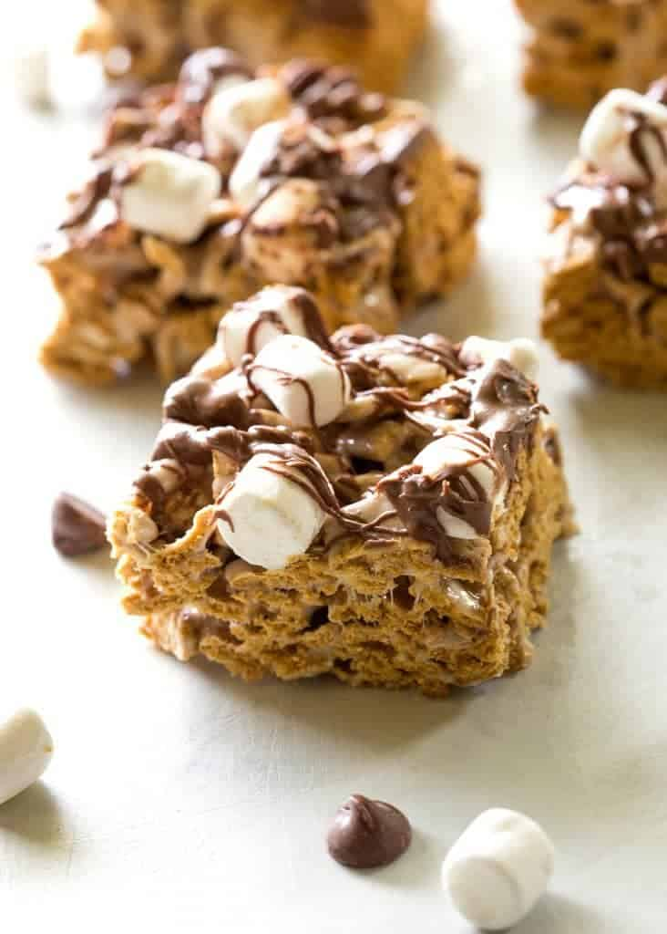 -Bake S'mores Treats - only 4 ingredients and taste just like S'mores...