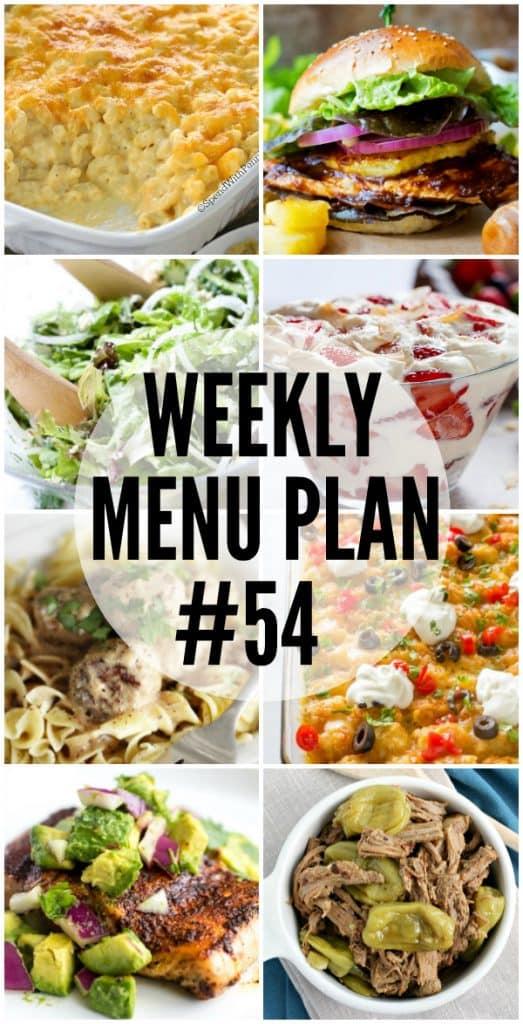 Weekly Menu Plan #54