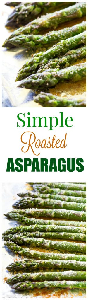 Simple Roasted Asparagus - There are lots of ways to cook asparagus but this is one of the best and easiest ways to enjoy the vegetable. #simple #roasted #asparagus #sidedish #recipe