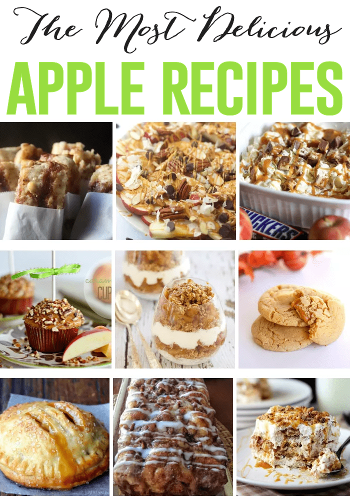Apple Recipes Roundup from The Girl Creative