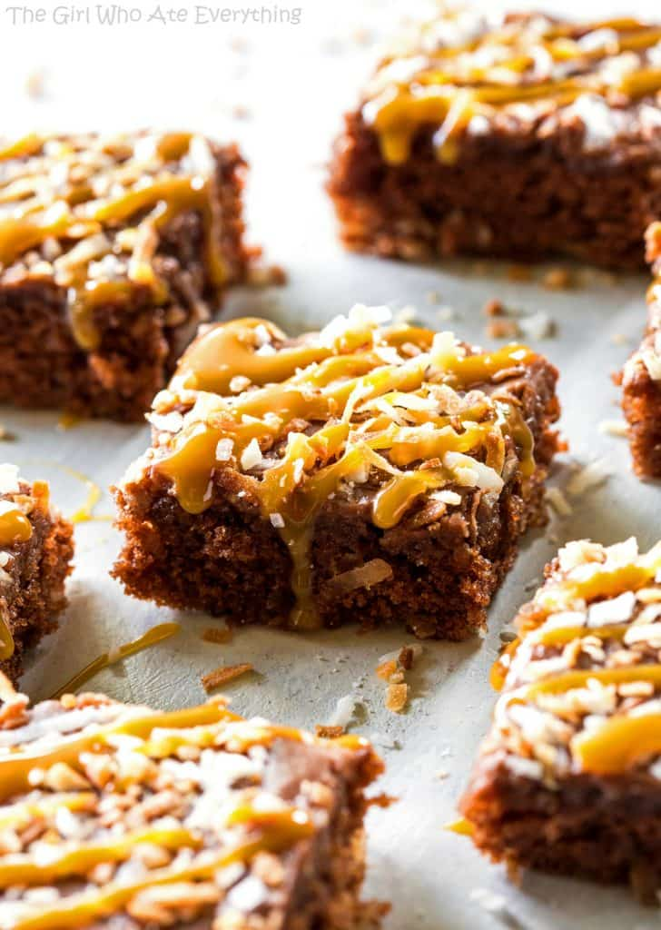 Chocolate Coconut Sheet Cake - your classic sheet cake with toasted coconut added to it. Think Almond Joy!