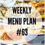 Weekly Menu Plan #63
