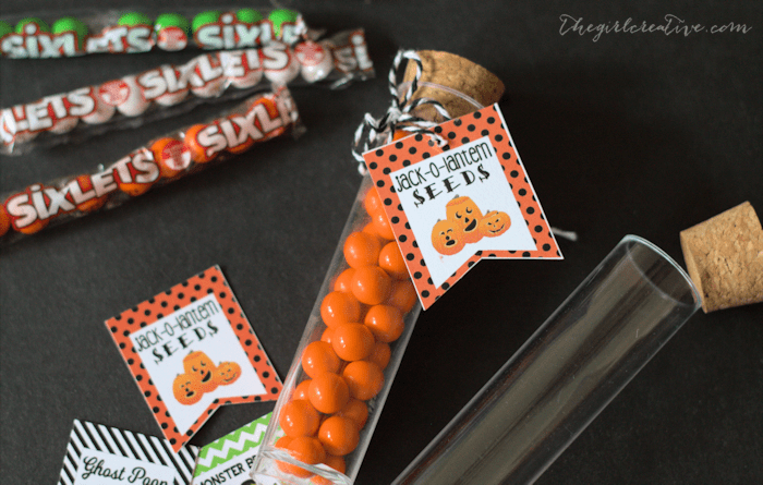 Halloween test tube party favors