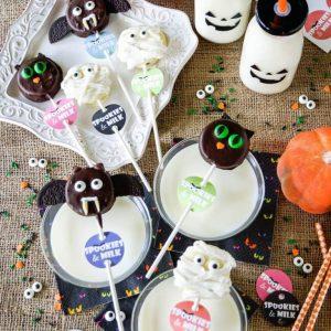 Spookies and Milk - cookies dressed up for Halloween!