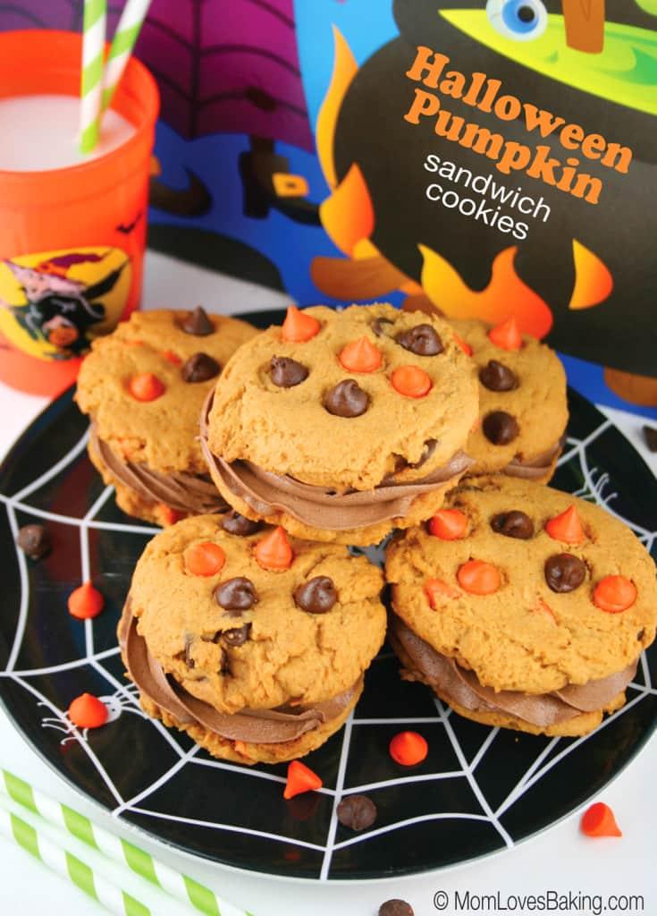 halloween-pumpkin-sandwich-cookies