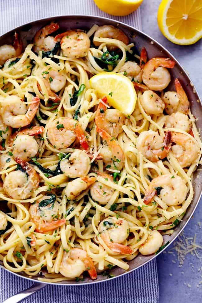 Lemon Garlic Parmesan Shrimp Pasta