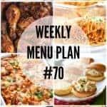 Weekly Menu Plan #70
