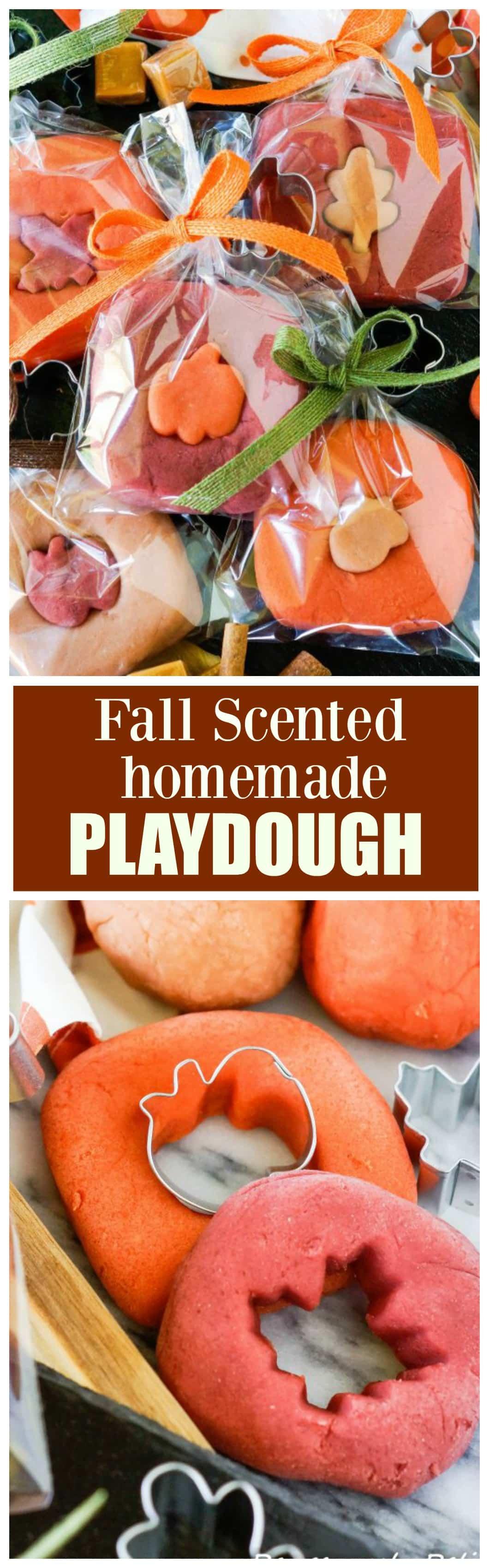 Fall Scented Homemade Playdough