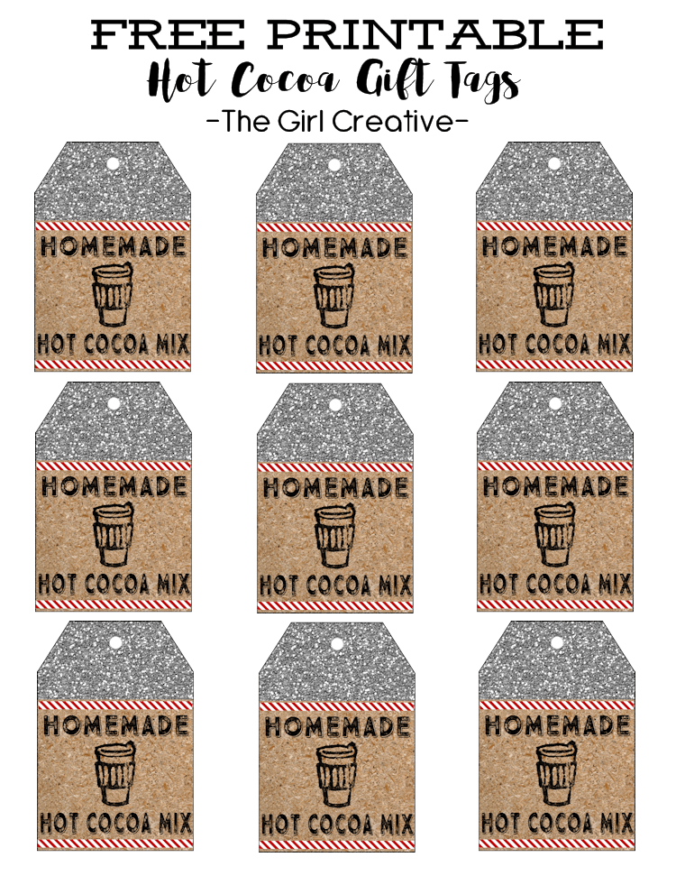 Hot Cocoa Tags Full Sheet