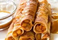 Creamy Caramel Apple Taquitos