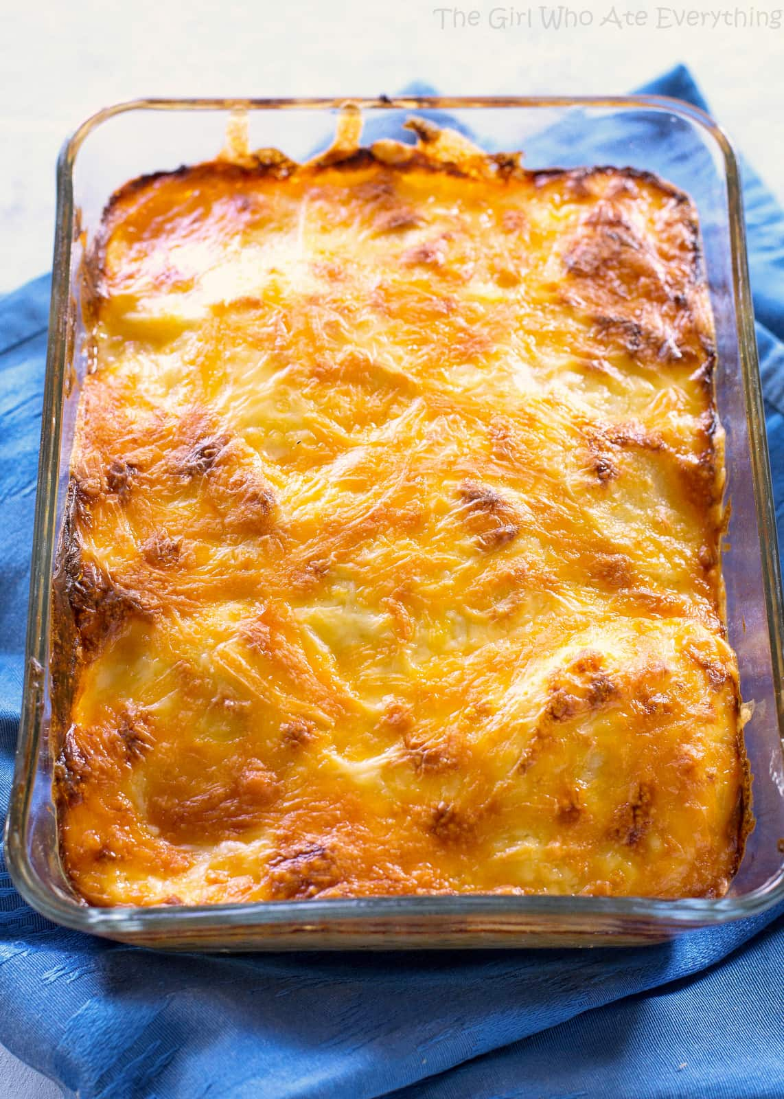 Scalloped Potatoes baked in a dish