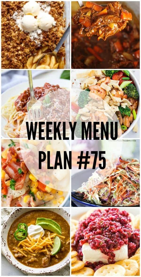 Weekly Menu #75