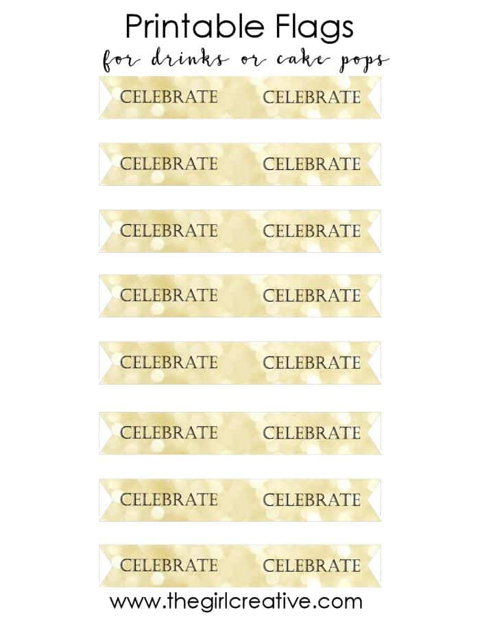 Printable Drink Flags for Weddings, Birthdays or Any Occasion