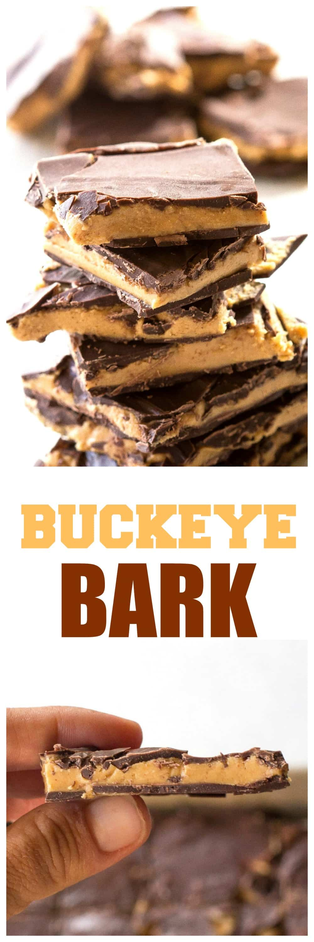 Buckeye Bark - so easy and seriously dangerous to have around. #buckeye #bark #chocolate #peanutbutter #dessert