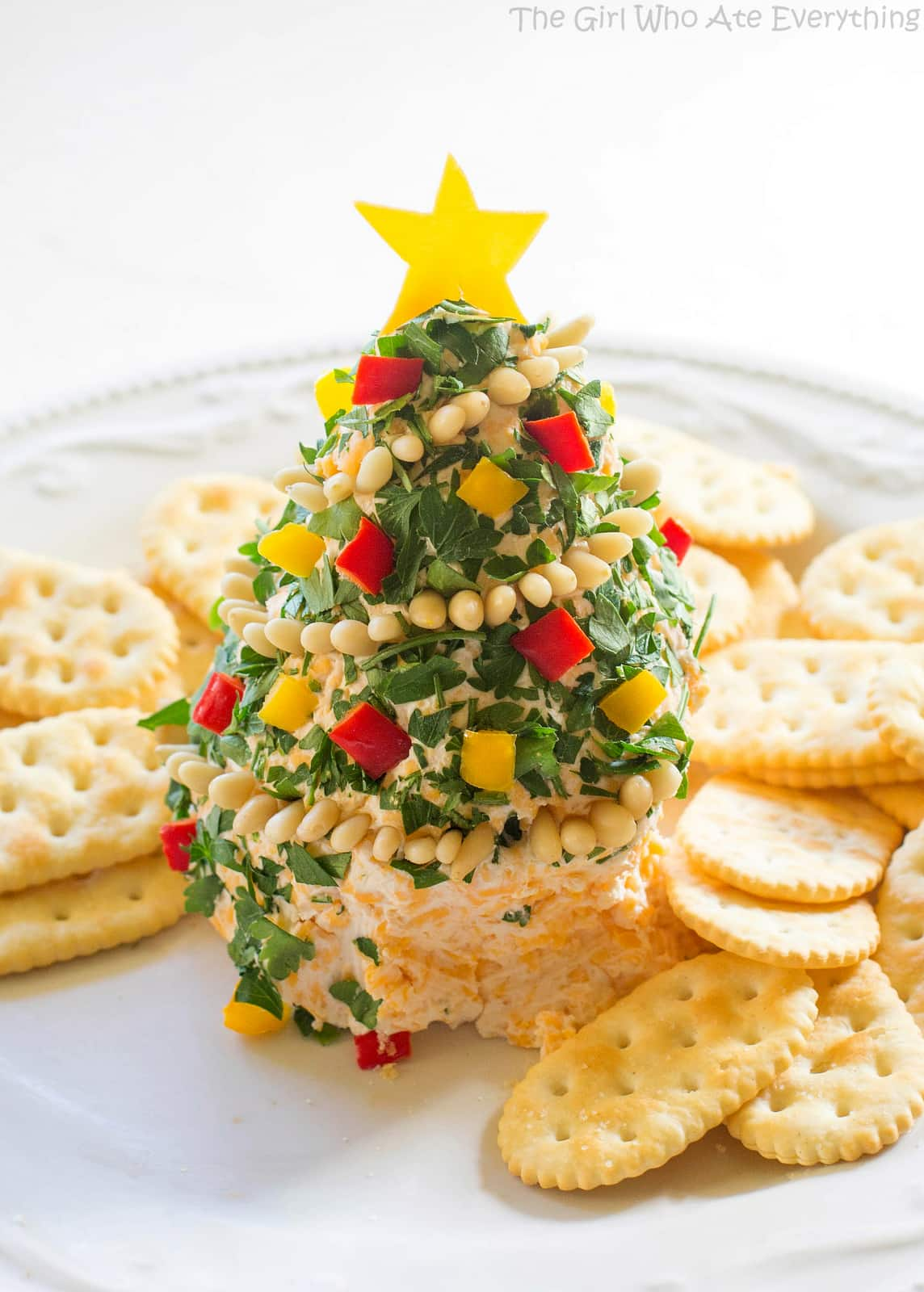 Christmas cheese tree the girl who ate everything christmas cheese tree super simple yet impressive cheese ball shaped in a tree the forumfinder Images