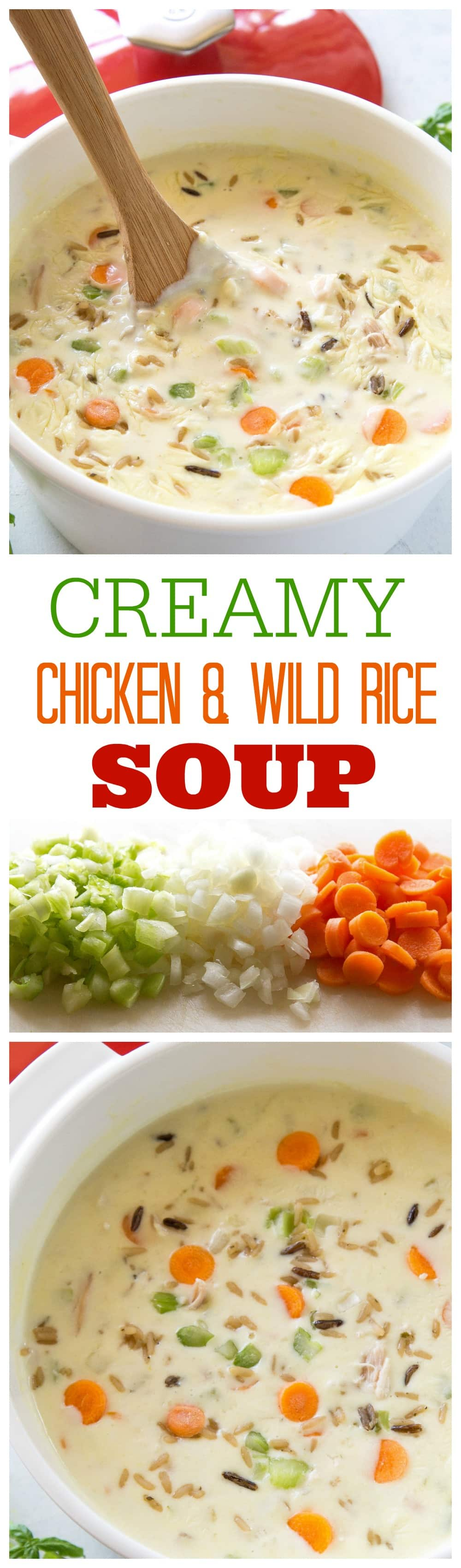 Creamy Chicken and Wild Rice Soup - nothing beats warm soup on a cold day. #creamy #chicken #wild #rice #soup #recipe #easy #dinner