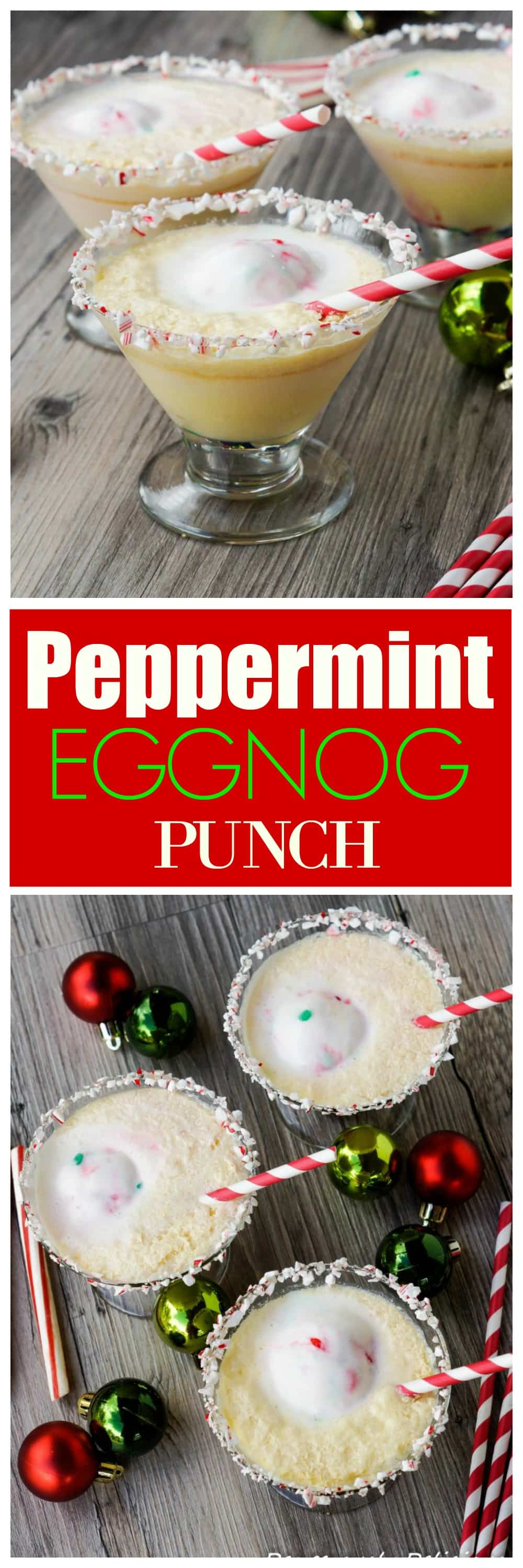 Peppermint Eggnog Punch